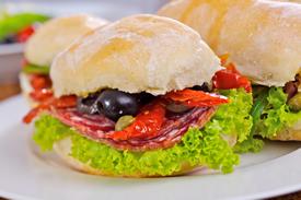 ciabatta bread italian sandwich